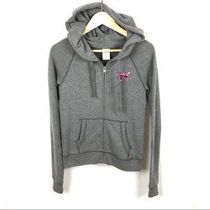 VS PINK full zip hooded sweatshirt Hawaii sequins